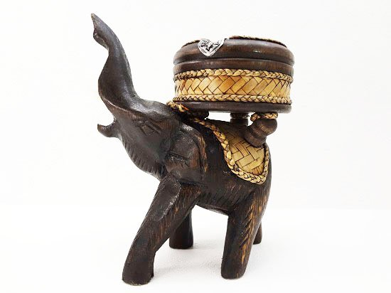 バンブー&ウッドの象さん灰皿【14】