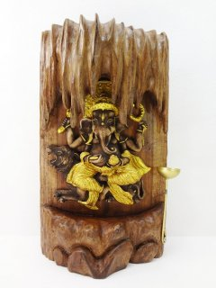 ガネーシャ像の置物/お香ホルダー付