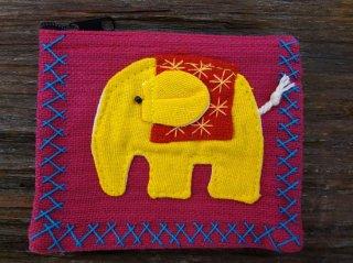 象のカラフルミニポーチ 【45】