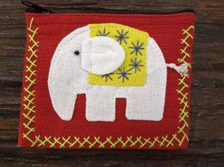 象のカラフルミニポーチ 【55】