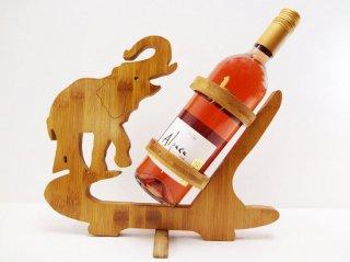 木製象のワインホルダー【1】