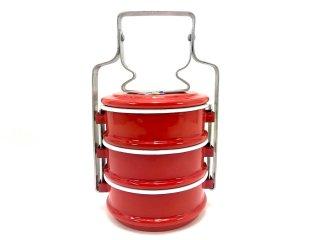 ホーロー弁当箱・赤