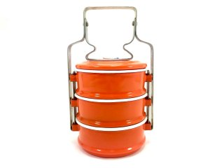 ホーロー弁当箱・オレンジ