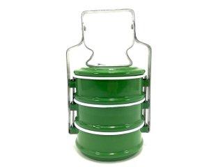 ホーロー弁当箱・緑