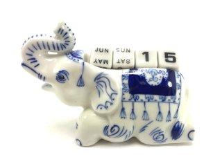象のカレンダー付置物