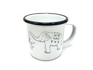 ホーローマグカップ/象柄