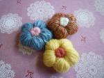 毛糸のお花パーツ(3個セット)【4】