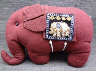 象のミニクッション・スパンコール付【1】