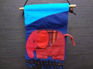 象の小物入れ付タペストリー【2】