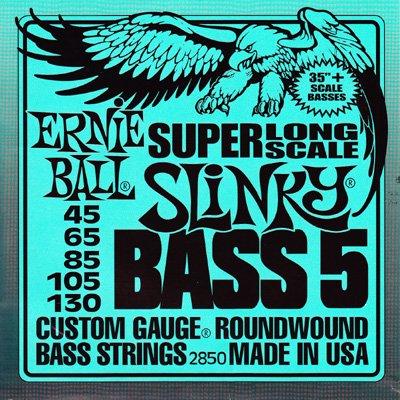 Ernieball(アーニーボール) 2850 Super Long Scale Slinky (5弦ベース用)