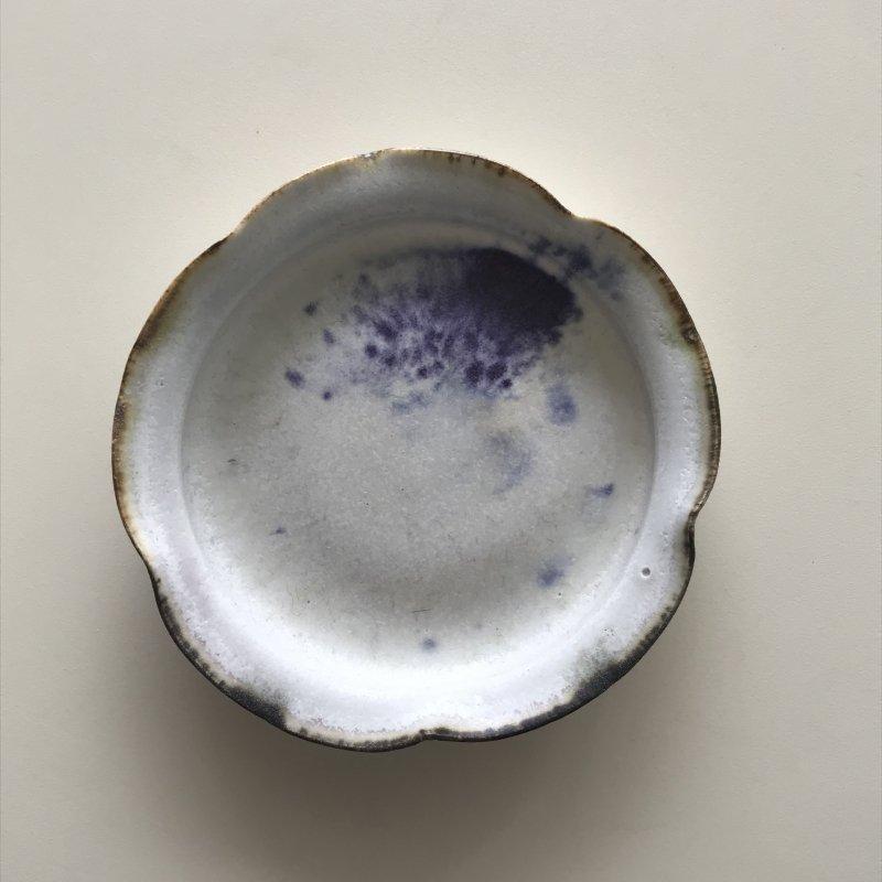 徳山久見子 小皿 ブルー1