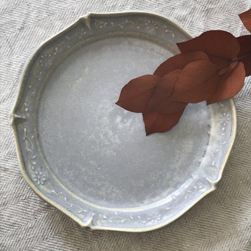 豊田雅代 五角皿 グレー