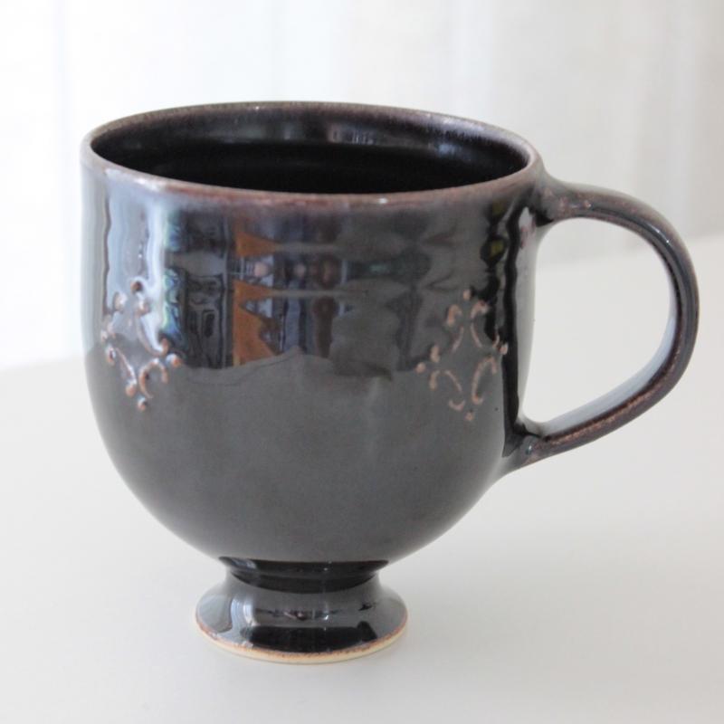豊田雅代 マグカップ  ブラウン