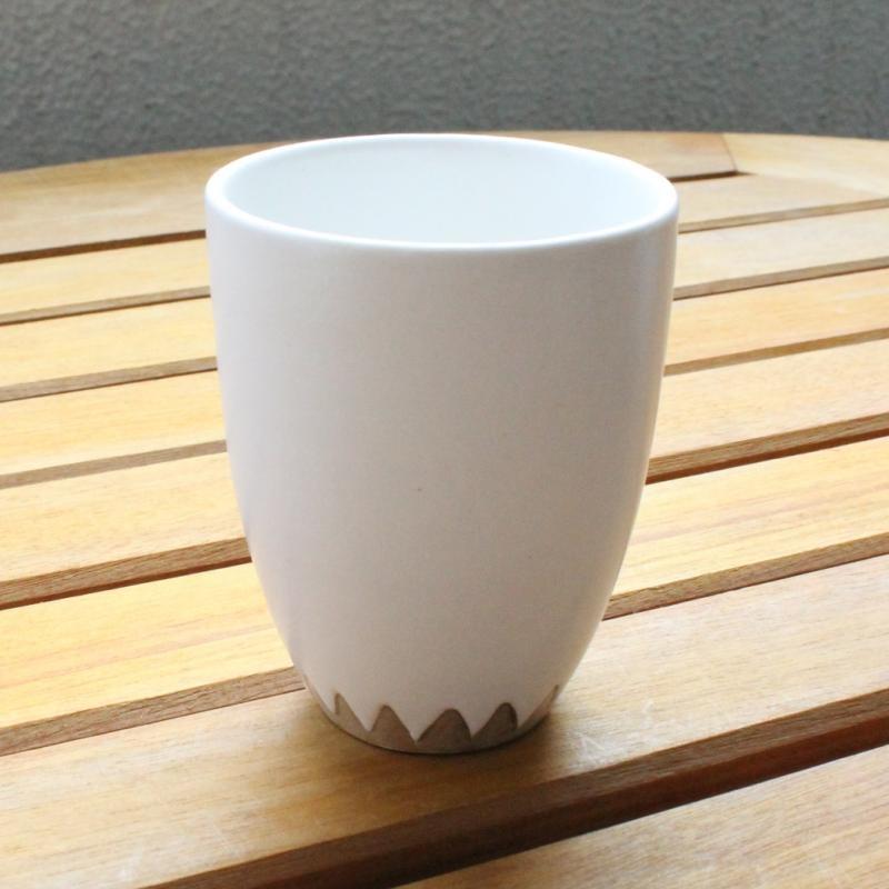 稲葉周子 銀彩カップ ホワイト