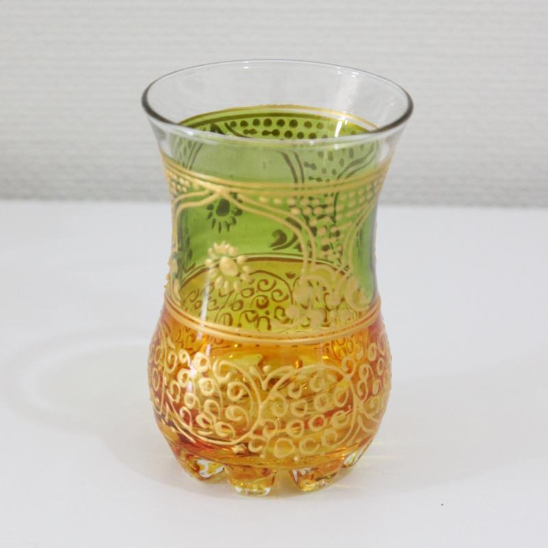 チャイグラス ケス チューリップ グリーン×オレンジ