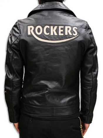 ACE CAFE エースカフェ RIDERS JACKT (ROCKERS LEATHER PATCH) A31501 BLACK