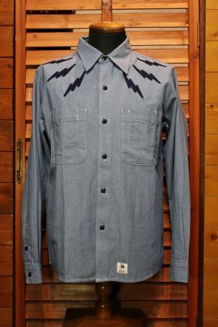 PAWN パーン THUNDER CHAMBRAY SHIRT 7302 (シャンブレーシャツ) WASH