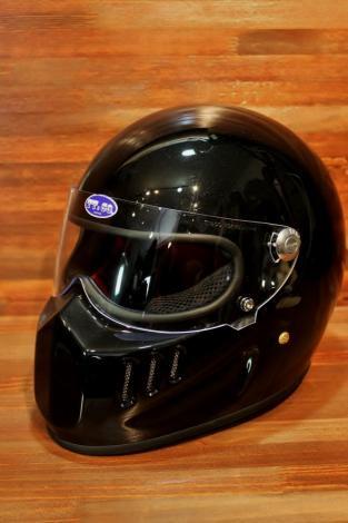 TT&CO. トンプソン 04 スモールフルフェイス ブラックメタリック シールド付
