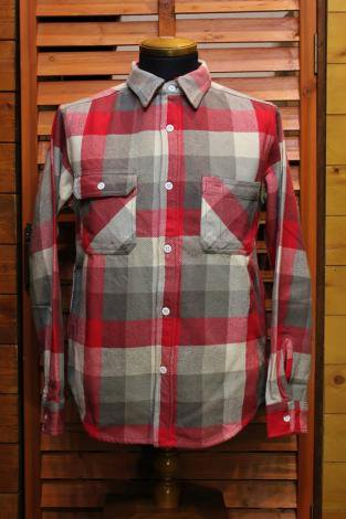 FIVE BROTHER ファイブブラザー Extra HEAVY FLANNEL CHECK WORK SHIRTS 151486 RED BLOCK