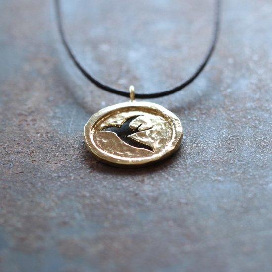 つばめメダル 真鍮|ネックレス