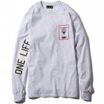 One Life L/S T-shirts(Ash Gray)