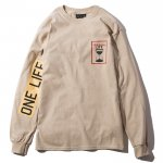 One Life L/S T-shirts(Sand)