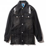 Damage Denim JKT(Black Denim)