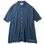 Wide S/S Shirts(Navy)