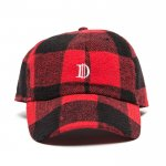 Check D Cap(Black×Red)