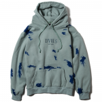 Paint Pullover Hooded(Dull Blue)