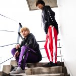 FourthTrack Pants (PURPLE)<img class='new_mark_img2' src='https://img.shop-pro.jp/img/new/icons1.gif' style='border:none;display:inline;margin:0px;padding:0px;width:auto;' />