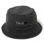 Devil Pigment Bucket Hat(Black)