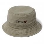 Devil Pigment Bucket Hat(Khaki)