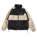 Nylon Piping JKT (Black/Khaki)