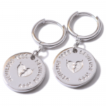 Heartaches Coin Silver Pierce(Silver)