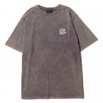 Scrap Logo Stone Wash  T-shirts(Plum)