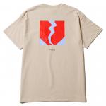 Flame Heart Pocket T-shirts(Sand)