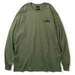 Burning Logo L/S T-shirts(Olive)