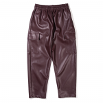 Leather Cargo Pants(Brown)