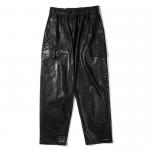 Leather Cargo Pants(Black)