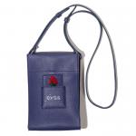 Leather Shoulder Bag(Blue)