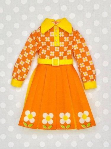 レトロなフォルムのワンピースキット『オレンジジュース色』