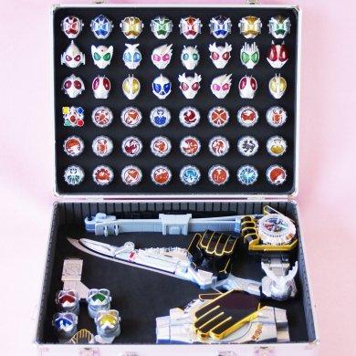 DXウィザードライバー&ウィザーソードガン&ドラコタイマー&ホルダー&リング53個収納ケース