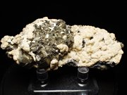 コソボ産パイライト、シデライト&カルサイト (Pyrite, Siderite & Calcite / Kosovo)