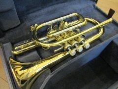 委託品 Bach コルネット 184GB Lボア ゴールドブラス/ラージボア