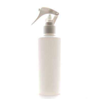 ミニトリガースプレー 200ml PE ストレートボトル [ ボトル:ホワイト / トリガー:ホワイト (スライドロック) ]