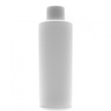 プラスチック容器 PE 200mL ホワイト【スクリューキャップ:ホワイト 中栓付き】
