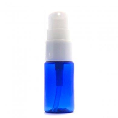 ポンプボトル 10ml PET  [ ボトル:コバルト / ポンプ:ホワイト ]