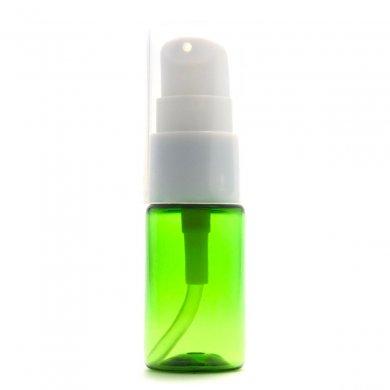 ポンプボトル 10mL PET グリーン【ポンプ:ホワイト】