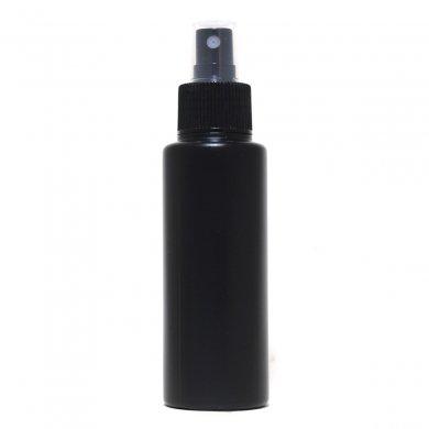 スプレーボトル 100ml PE ストレートボトル [ ボトル:遮光黒 / スプレー:ブラック ]